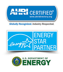 AHRI Certified, Energy Star Partner and US Department of Energy